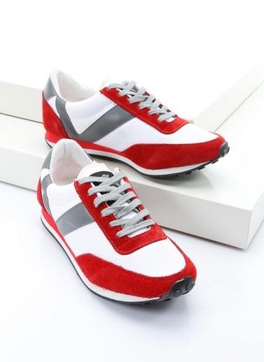 19V69 Italia %100 Deri Casual Ayakkabı Kırmızı